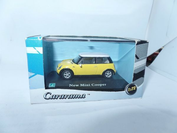 Cararama 1/72  Scale New BMW Mini Cooper Yellow White Roof